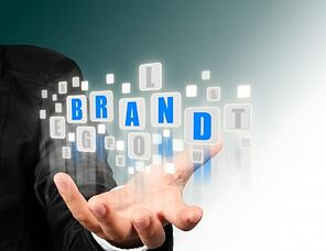 Business Hand With Brand Text by Suwit Ritjaroon