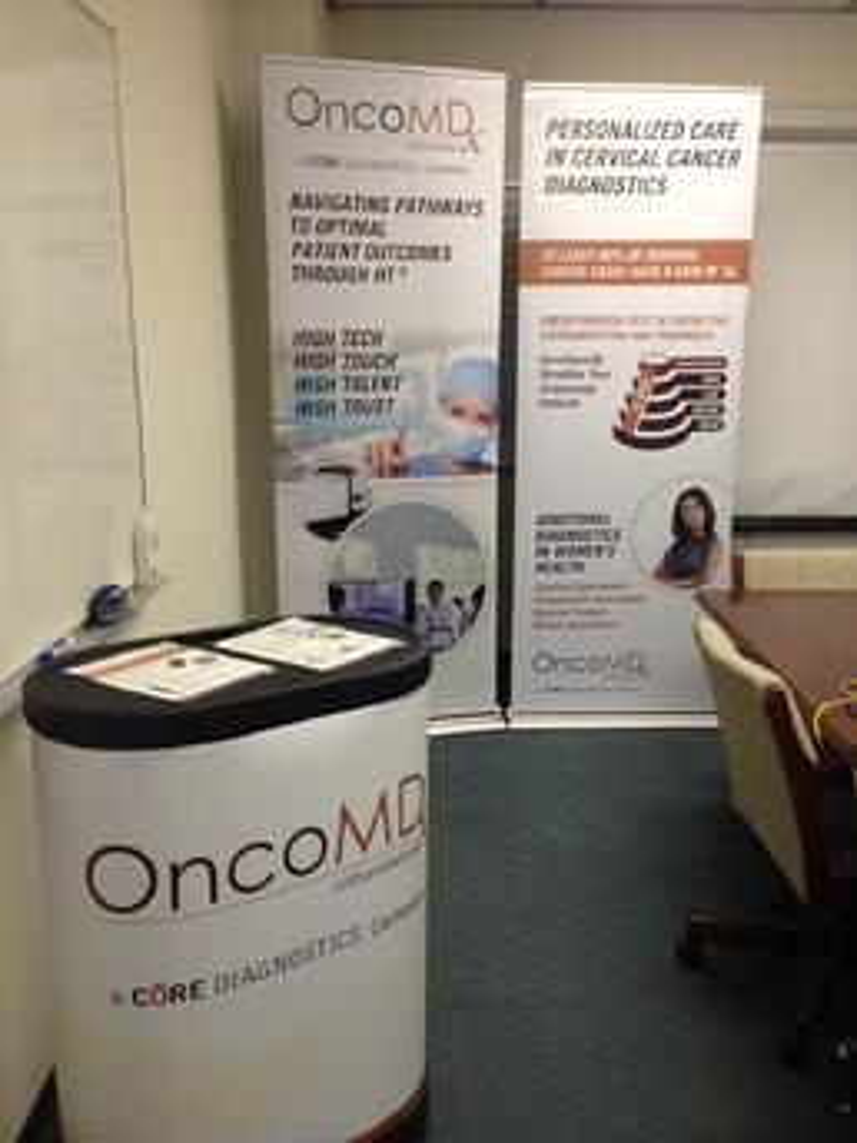 OncoMDx Tradeshow Booth Example