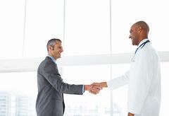 Doctor patient handshake  sales tool blog