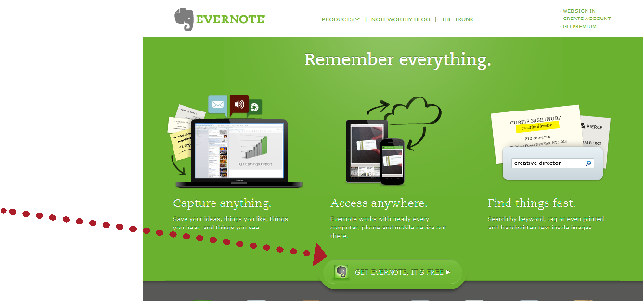 Evernote CTA Example