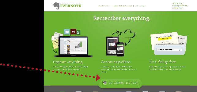 Evernote CTA Example